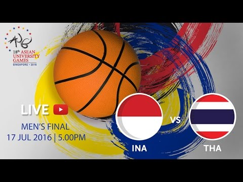 Basketball Men's Final Indonesia vs Thailand | 18th ASEAN University Games Singapore 2016