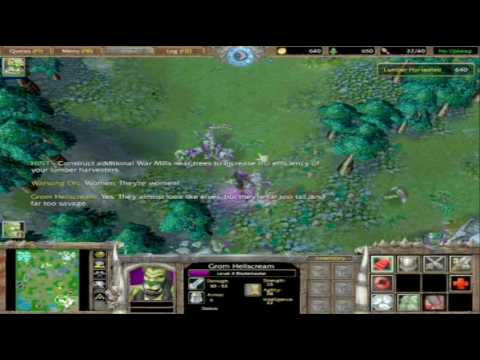 warcraft 3 reign of chaos orc campaign cinematics 3/6