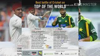 Sehwag diamonds vs afridi royal match..8,9th feb.2018.