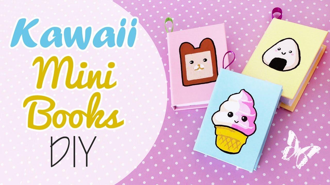 Mini Libri Kawaii Fai Da Te Kawaii Mini Books Diy Youtube