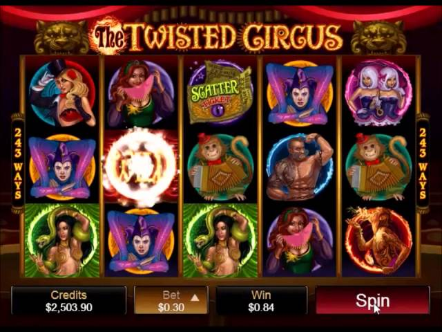 Twisted Circus mobile casino slots