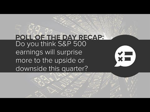 Poll of the Day Recap: Do You Think S&P 500 Earnings Will Surprise To The Upside Or Downside?