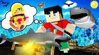 Minecraft RAFT - SHARK ATTACK?!