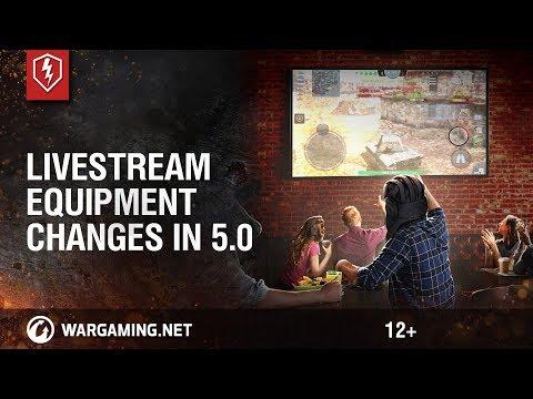 WoT Blitz. Livestream: Equipment changes in 5.0
