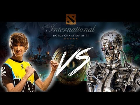 NAVI Dendi vs Open AI Super bot (only mid) НАВИ Денди против бота