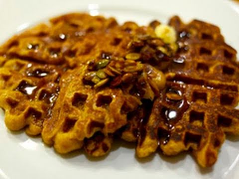 How To Make Pumpkin Waffles: Seasonal Fall Holiday Brunch Recipe