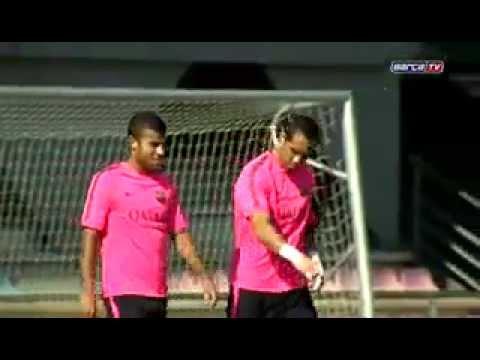 FCB Training session (15-09-2014)  Dani Alves back in training