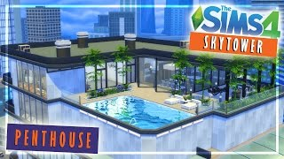 Skytower Luxury Penthouse : The Sims 4 Speed Build / Furnished & NO CC