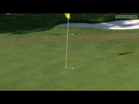 Steve Stricker hits his approach to inches on the second playoff hole (17), then taps-in for the win at the 2009 Crowne Plaza Invitational at Colonial. For c...