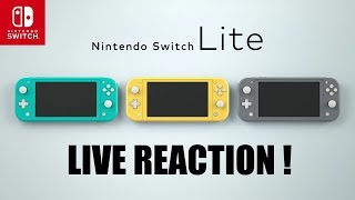 LIVE REACTION! NINTENDO SWITCH LITE - Officially Announced!