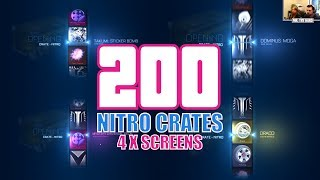 200 Nitro Crate Opening Across 4 Screens - 3 x BMD + Tons of Painted Items!