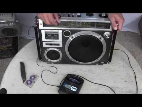 Vntg JVC RC 550JW Cassette Recorder 5 Broadband Boombox Getto Blaster 140980001431 JVC RC 550