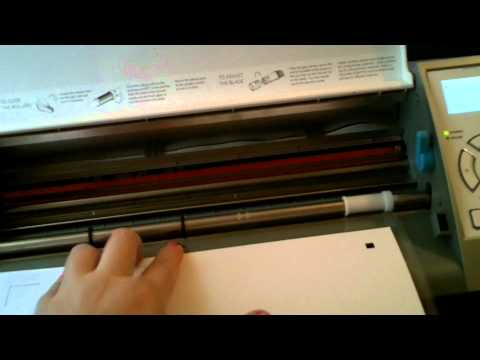 How to Print and Cut with Silhouette Cameo make your first cut 003.MOV