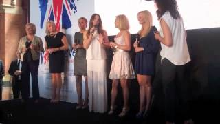 The Spice Girls reunite to discuss Viva Forever at the launch of the musical