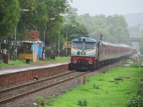 Bombay To Goa! Konkan Railways Compilation; Tvc Rajdhani Monsoon Magic video