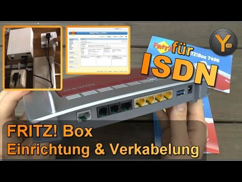 fritz box 7490 verkabelung einrichtung f r dsl mit isdn telefonie youtube. Black Bedroom Furniture Sets. Home Design Ideas