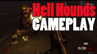 "Black Ops 2 Zombies - Hell Hounds Gameplay ""TOWN Survival"" Dogs Footage"