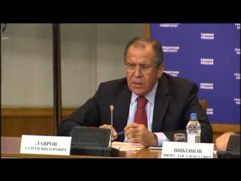 "Russian FM Sergei Lavrov: ""Russian relations with US at rock bottom and will not improve soon"""