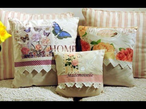 Como decorar un almohad n vintage con servilletas for Decoupage con servilletas en muebles