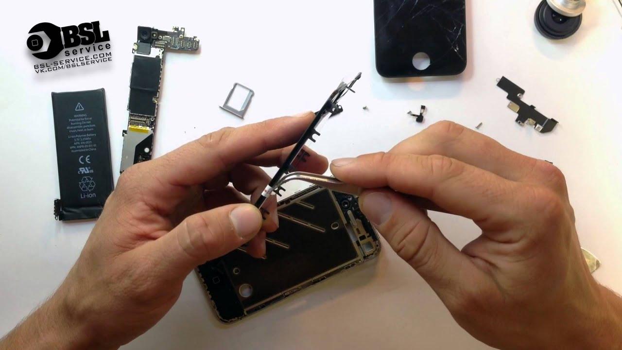 Замена дисплея в iPhone 4 сервисный-центр BSL-service, Одесса - YouTube