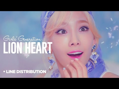 SNSD - Lion Heart : Line Distrbution (Color Coded | Remake)