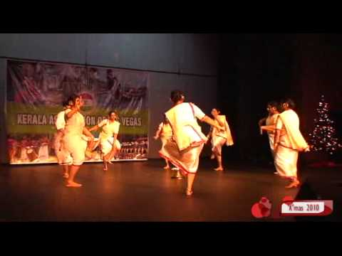 'x'mas2010,kerala Association Of Las Vegas,margam Kali. video