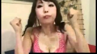 hot busty japanese girl displays her oral skills.