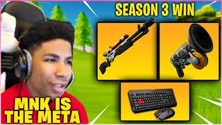 UNKNOWN SHOCKS Everyone After FIRST WIN On MOUSE & KEYBOARD In Fortnite Season 3!