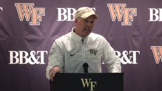 Wake Forest vs. NC State Postgame Press Conference