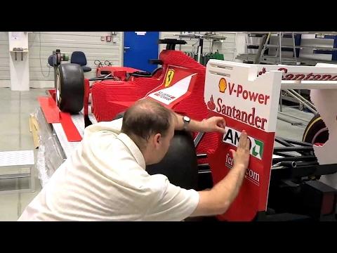 Full size LEGO® model Ferrari Formula One car made out of LEGO bricks