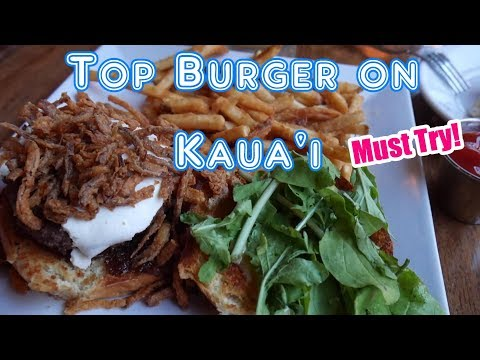 Where to eat on Kauai | BEST BURGER in Town | Hawaii Restaurants | Kapaa | Waipouli | Kauai Vlog