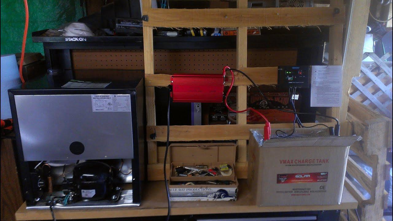 Solar Powered Refrigerator 2014 Stillwater Ok Youtube