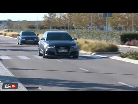 Cristiano Ronaldo sobrepasa a toda velocidad el auto de James Rodriguez | 2014