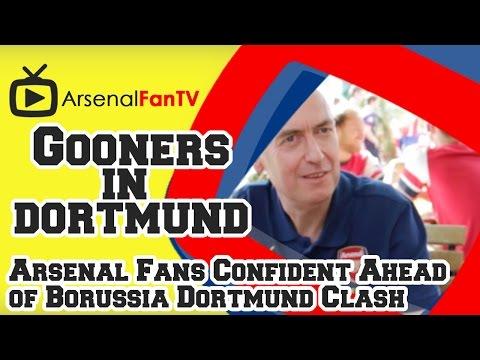 Arsenal Fans Confident Ahead Of Borussia Dortmund Clash video