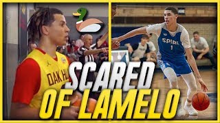 IS THIS OAK HILL STAR DUCKING LAMELO BALL & SPIRE?