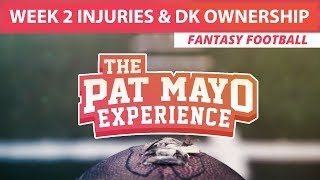 2017 Fantasy Football: Week 2 NFL Injury Report & DraftKings Milly Maker Chalk Picks and Pivots