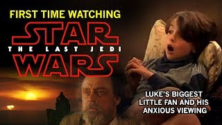 STAR WARS: The Last Jedi - My Son's ANXIOUS First-Time Reaction