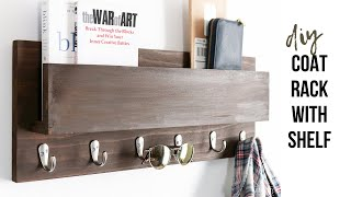DIY Wood Coat Rack & Mail Holder || Scrap Wood Project
