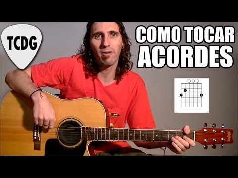 APRENDER COMO TOCAR ACORDES FACILES EN GUITARRA ACSTICA: MAYORES y MENORES NOTAS TABLATURA TCDG