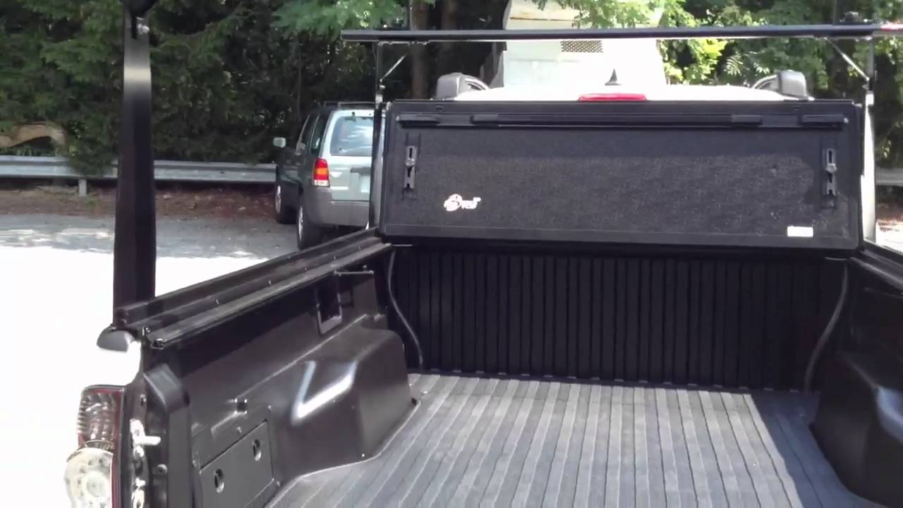 Tacoma Bakflip Cs Ladder Rack Tonneau Cover Youtube