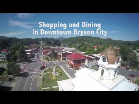 Shopping and Dining in Downtown Bryson City
