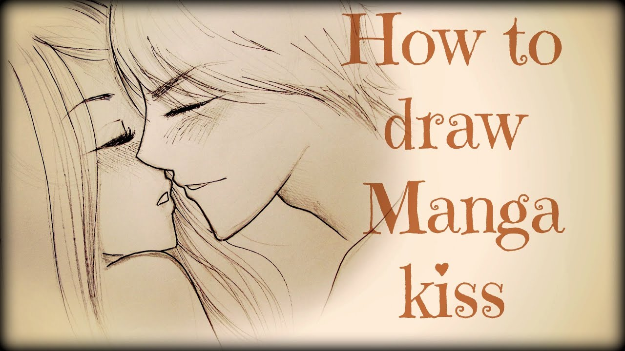 Kissing Drawing to Draw a Couple Kissing