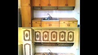 Декорирование старого кухонного гарнитура своими руками 80