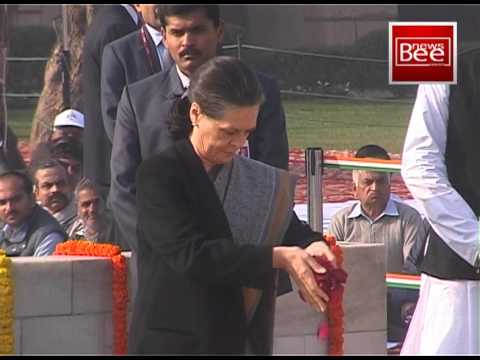 Nation pays homage to Mahatma Gandhi on his 65th death anniversary mp4