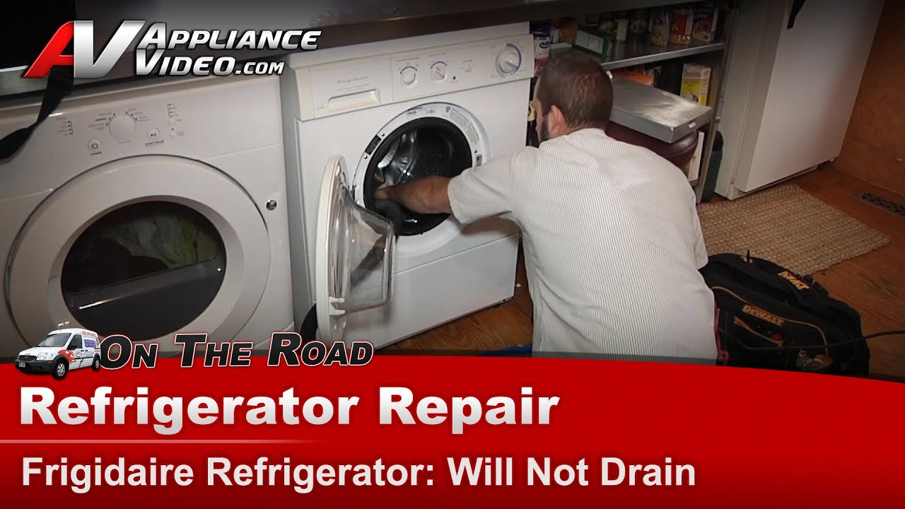 Washer Front Load Repair Will Not Drain Or Pump Water