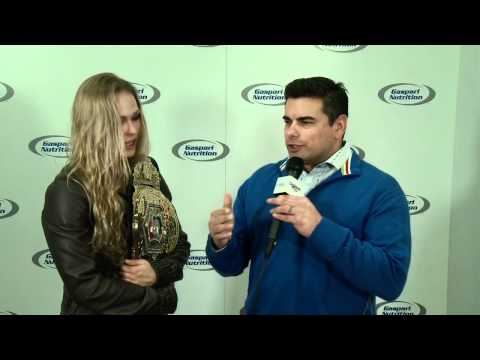 Mike Straka of StrikeForce interviews Ronda Rousey on GaspariTV LIVE @ 2012 Arnold Classic