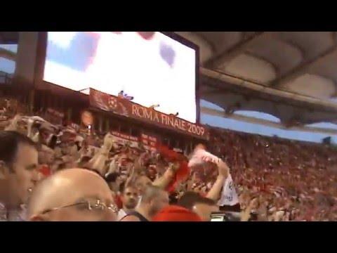 Man United fans singing about Cristiano Ronaldo in Rome 2009