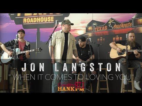 Jon Langston   When It Comes To Loving You acoustic