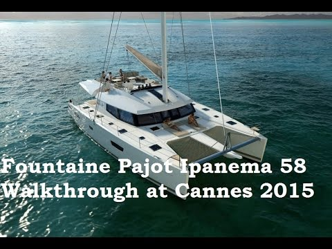 Fountaine Pajot Ipanema 58 catamaran walkthrough at the Cannes Yachting Festival 2015