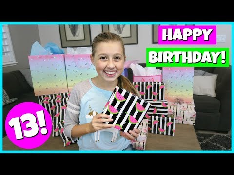 GABRIELLE'S 13TH BIRTHDAY MORNING OPENING PRESENTS!
